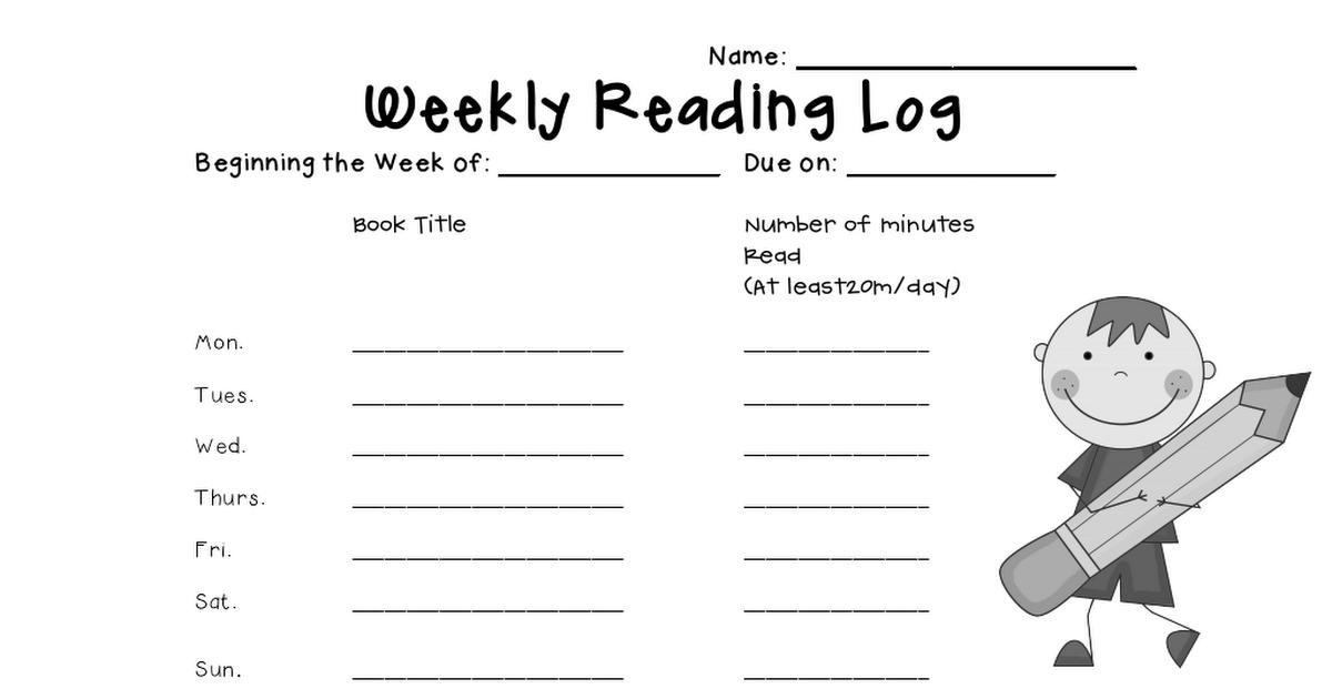 reading log.pdf Reading logs, 40 book challenge