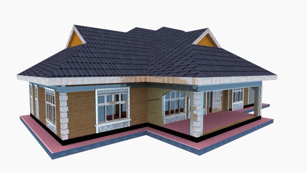 Simple 3 Bedroom House Plan For A Small Family In Kenya Bedroom