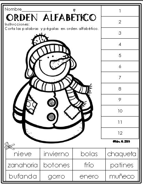 Invierno: Hojas de trabajo. Winter Literacy Packet in Spanish ...