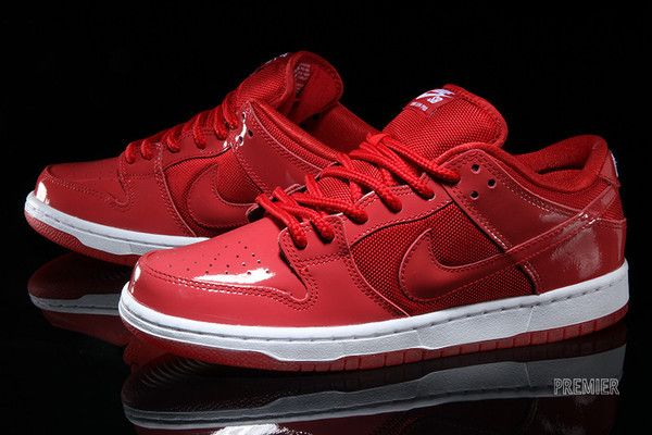 the best attitude 9d3b7 ce952 Red Patent Leather Shines On The Nike SB Dunk Low 3 ...