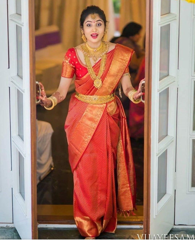 beutiful weeding wear saree  for soft silk saree  with orange color blouse piece saree..