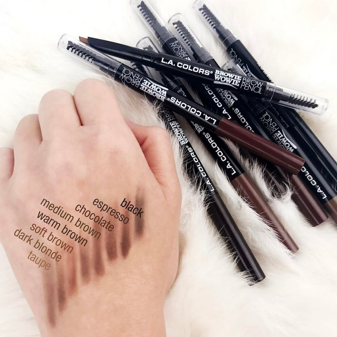 LA Colors Cosmetics Brow Wowie pencil swatches (With