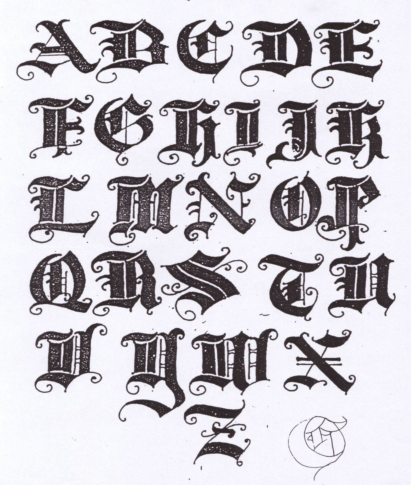 All that I like OLD ENGLISH TEXT LETTERS Lettering