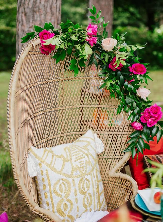 Bold Brigth 70s Themed Bridal Shower Inspired By This Wedding