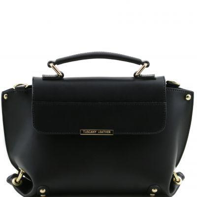 4f0303b8c07 TL Bag - Ruga leather handbag with detachable strap Black TUSCANY LEATHER