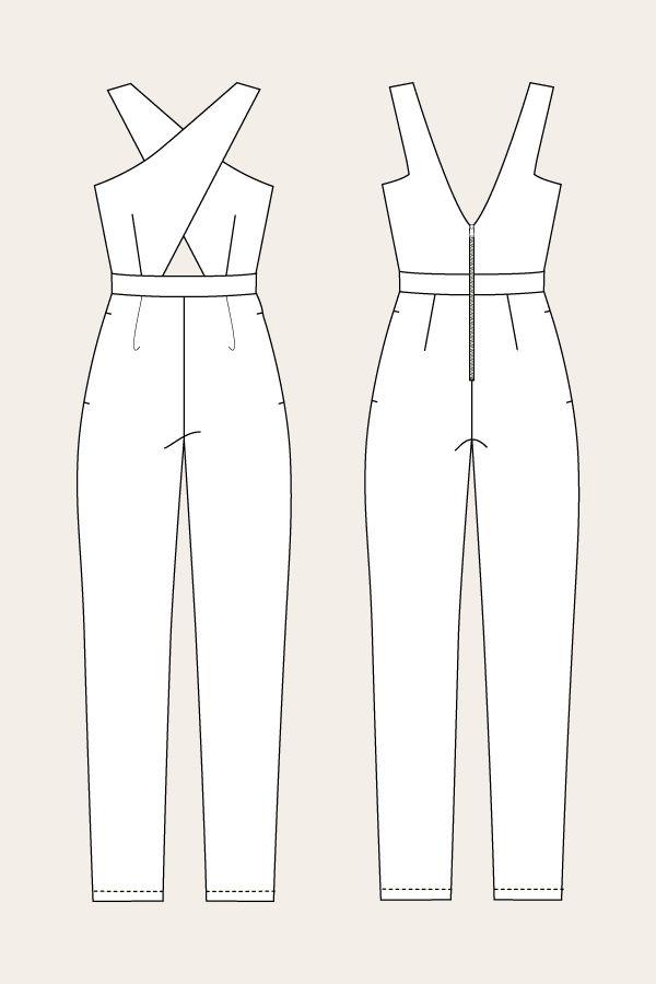 Ailakki Cross Front Jumpsuit | Costura | Costura, Ropa y Vestidos