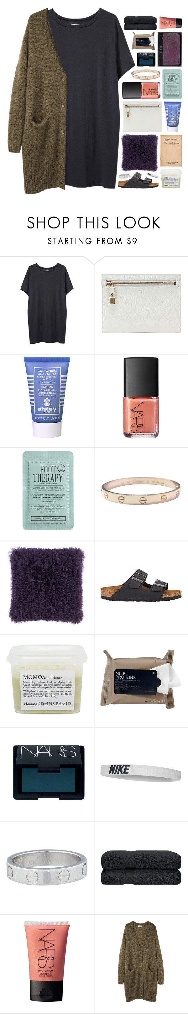 """""""too high to actually fly."""" by annamari-a ❤ liked on Polyvore featuring Organic by John Patrick, Tom Ford, Sisley Paris, NARS Cosmetics, Kocostar, Cartier, Birkenstock, Davines, Korres and NIKE"""
