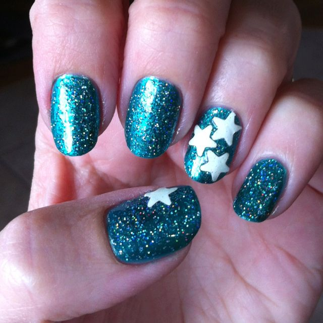 China Glaze Atlantis and my first attempt at making my own nail ...