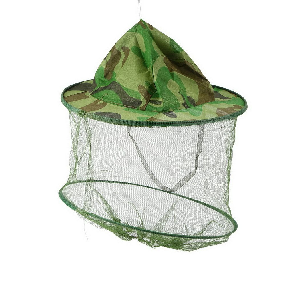 1pc Fishing Hat Insect Bee Mosquito Resistance Bug Net Mesh Head Face  Protector Cap Sun  CLICK!  clothing 3c7f63362ef3