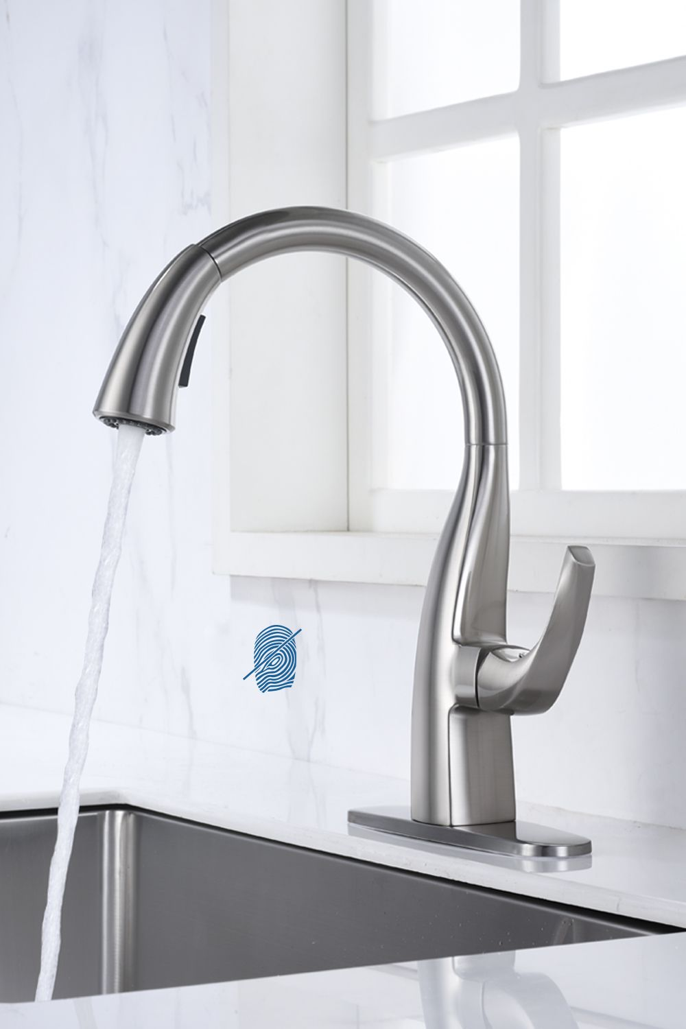 Cheap Kitchen Faucet Brushed Nickel Pull Down Sprayer Head In 2020