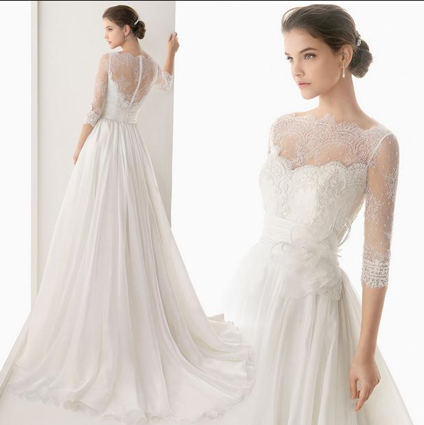 2015 sexet blonder brudekjole online salg