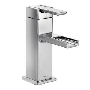 Half  Moen 90 Degree Singlehandle Lavatory Faucet In Chrome Entrancing Home Depot Moen Bathroom Faucets Inspiration