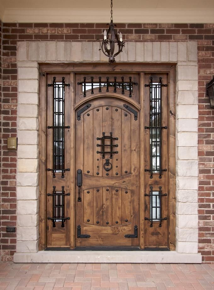 Heavy Gothic Doors With Iron Grating Homeclick Community