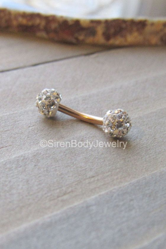 Adorn your piercings in luxurious rose gold featuring brilliant cz