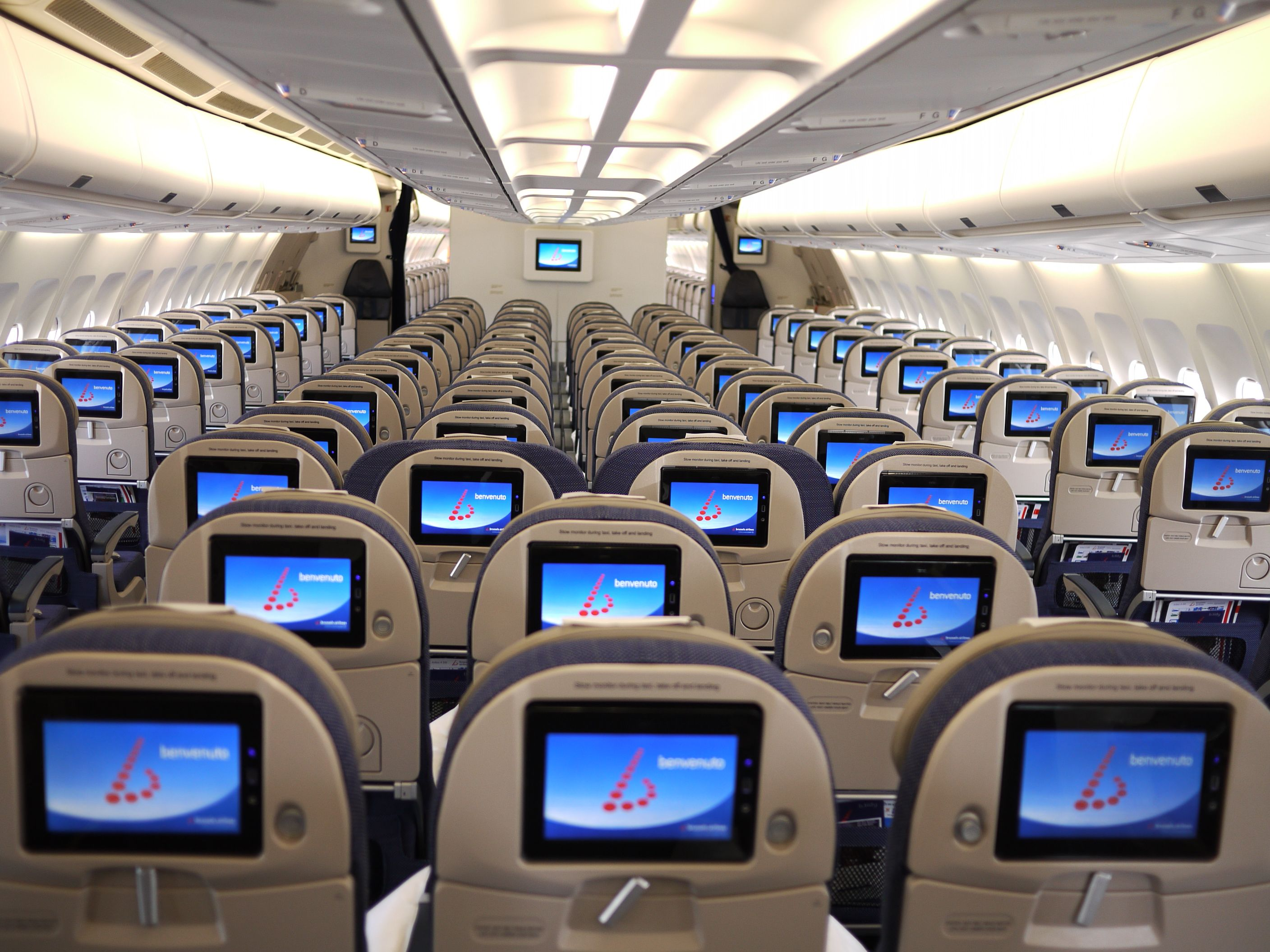 Individual inflight entertainment in Economy, with user-friendly