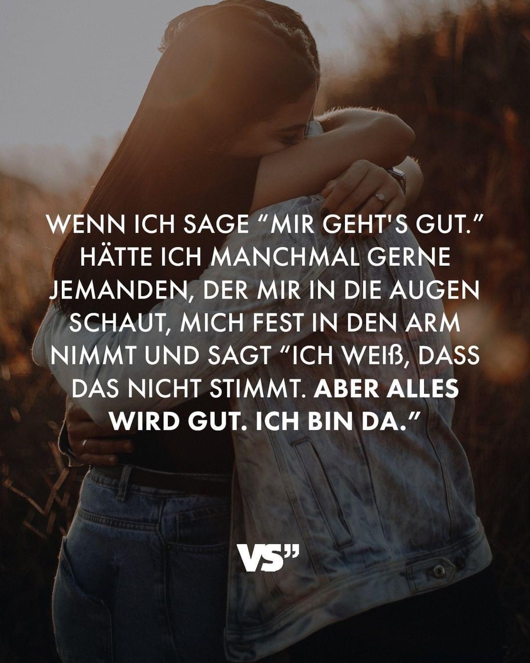 """VISUAL STATEMENTS® on Instagram: """"❤️ #VisualStatements #Lebensweisheiten #Sprüchezumnachdenken #freundschaft #trösten #umarmen"""""""