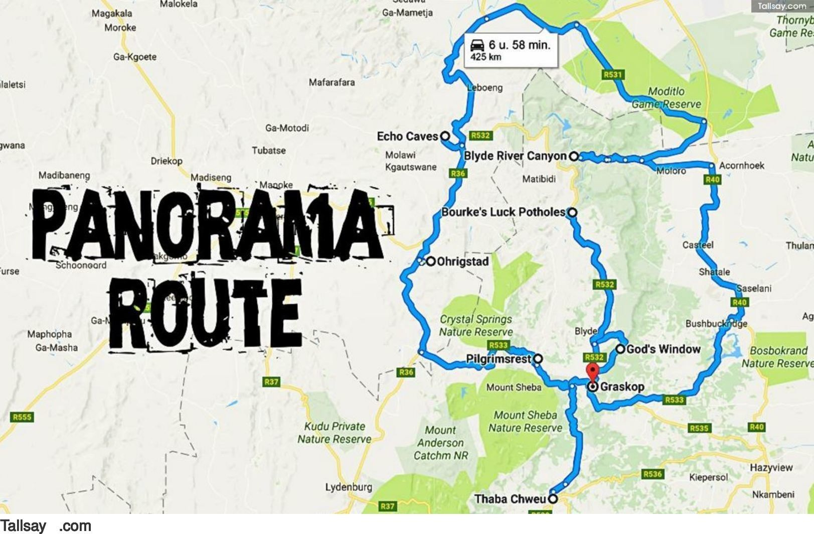 Panorama Route South Africa Map.Panorama Route In Zuid Afrika Tallsay Com Travel South Africa