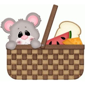 Silhouette Design Store Mouse In Picnic Basket Pnc Picnic Basket Picnic Clip Art
