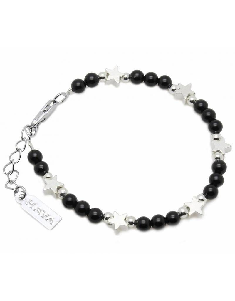 Children S Bracelet Shine Bright Black Kaya Jewellery Uk
