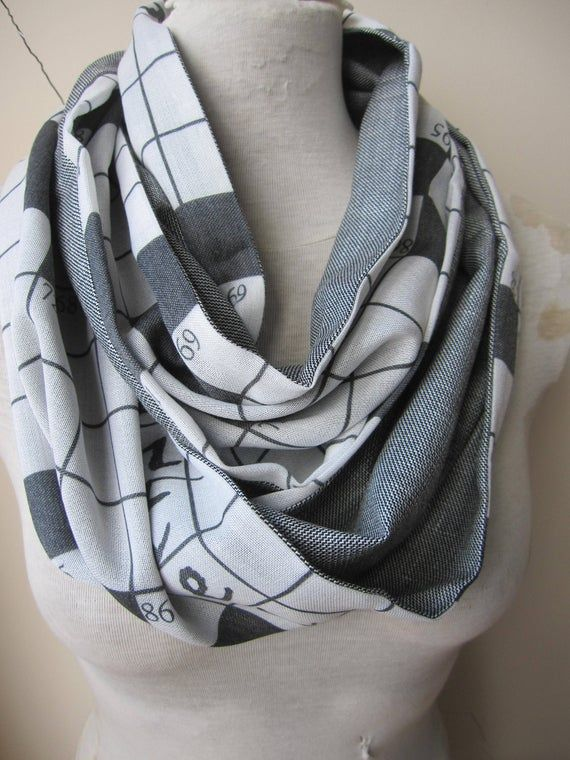 Pashmina infinity scarf - crossword scarf black gray men's scarves EXPRESS SHIPPING 2019 Man Women f #mensscarves