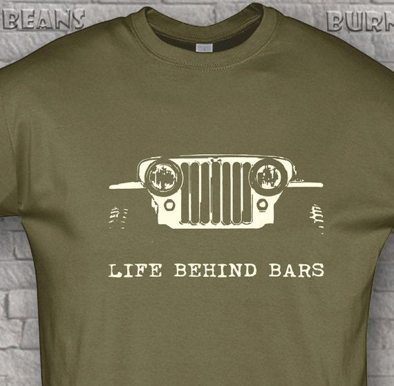 Off Road T Shirt Awd Jeep T Shirt 4x4 Willys Funny Gift Life Behind Bars S 5xl Jeep Shirts Jeep Clothing Jeep Gear