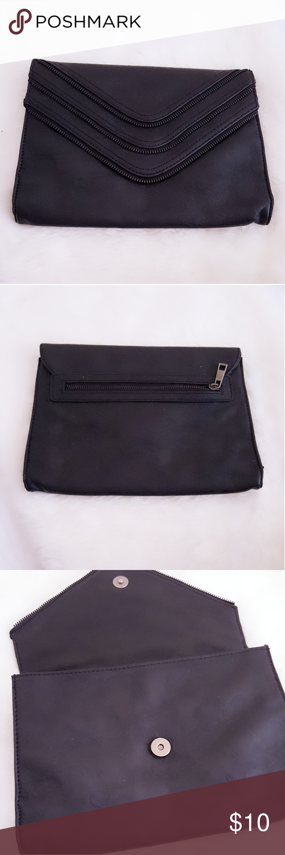 Black Clutch Pre owned  Fair Condition   * Please message me for all inquiries. * Same or next day shipping.  * All purchase are greatly appreciated. * 10% off Bundle * No Trades Bags Clutches & Wristlets