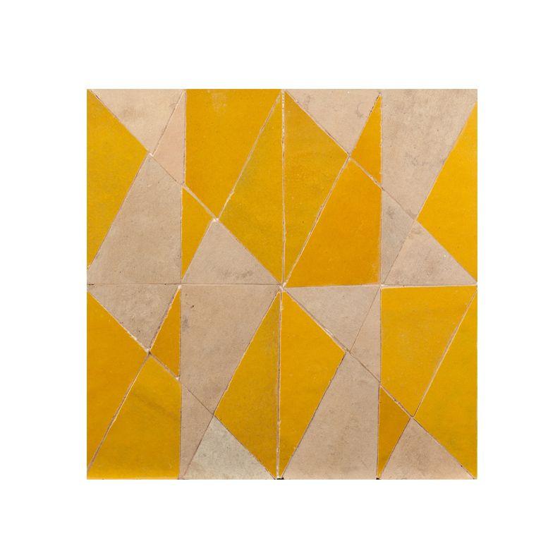 Zellige trc3 jaune terracotta id es pour la maison for Comcarrelage metro jaune