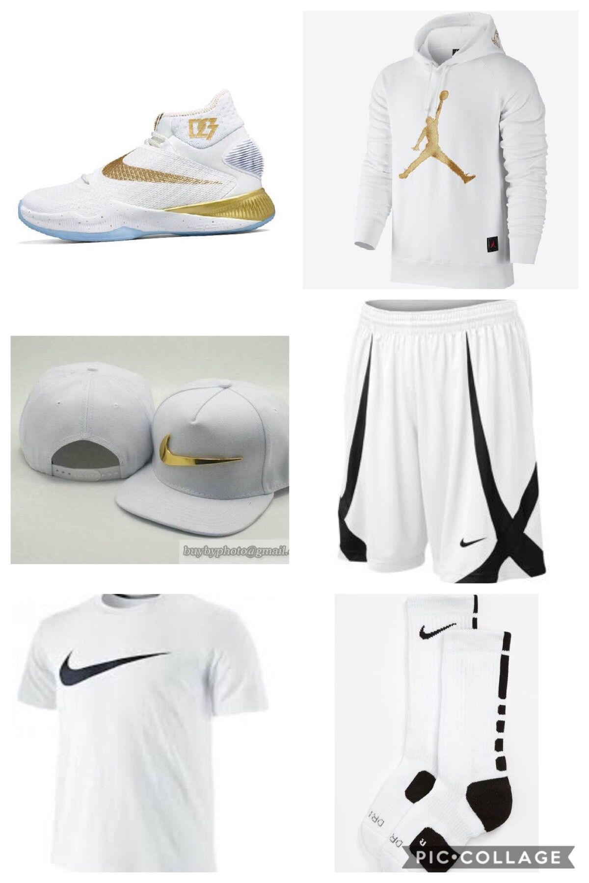47389d2b8be7b4 White Gold Black Nike and Jordan Outfit