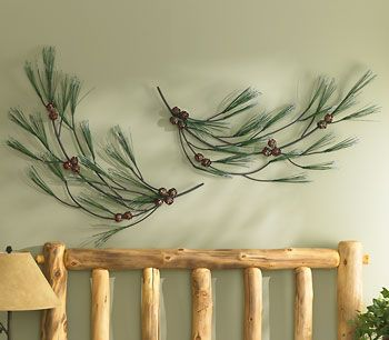 Pinecone Swag Wall Decor www.wildwings.com | Home Sweet Home ...