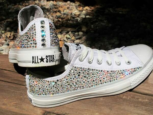 834d62efae6a Converse all stars with diamonds cute white colorful