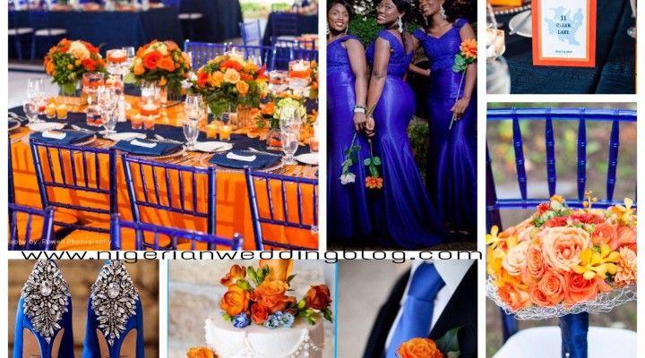 Royal Blue Wedding Google Search Blue Orange Weddings Orange