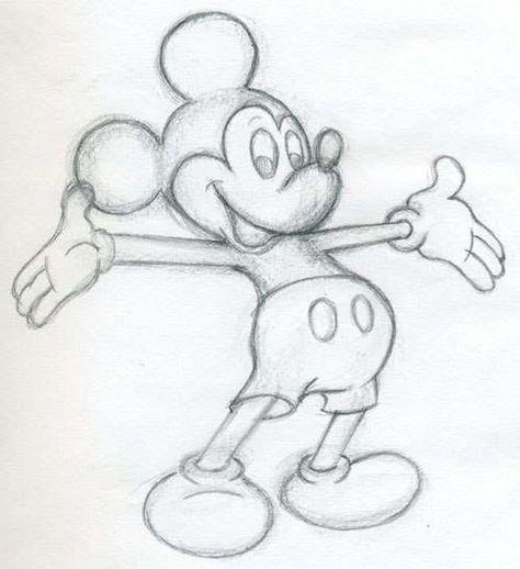 Mickey Mouse zeichnen  Anleitungdekokingcom1  kunst  Pinterest