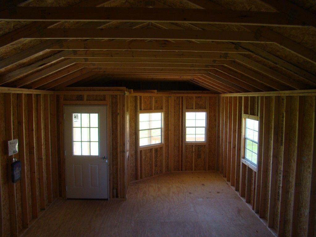 Deluxe Barn Loft Cabin 14 X 34 Derksen Painted Portable Deluxe Cabin Ready For Build Out Portable Buildings Building Instructions Tiny House