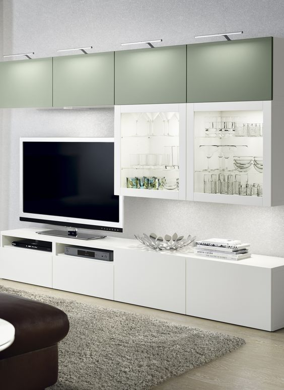 Composici n blanco verde besta ikea decoraci n 15 - Ikea muebles salon tv ...