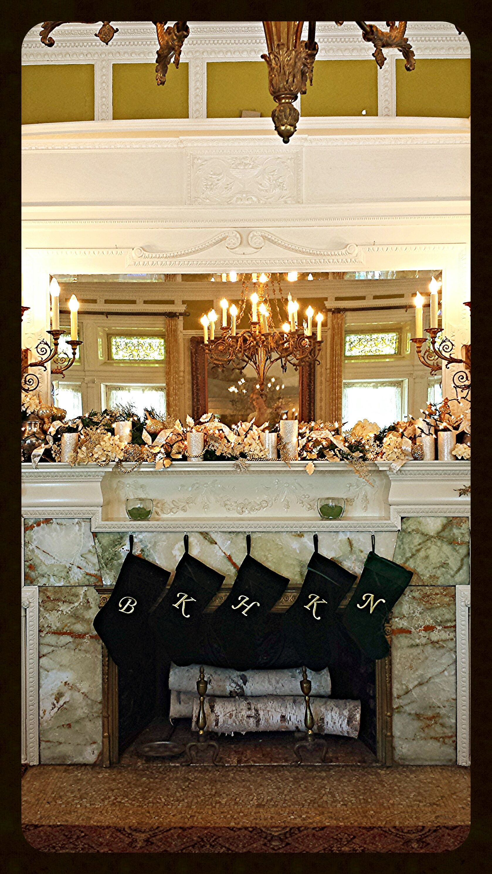 Holiday Cheer within the elegant Drawing Room at Tippecanoe Place Restaurant in downtown South Bend, IN