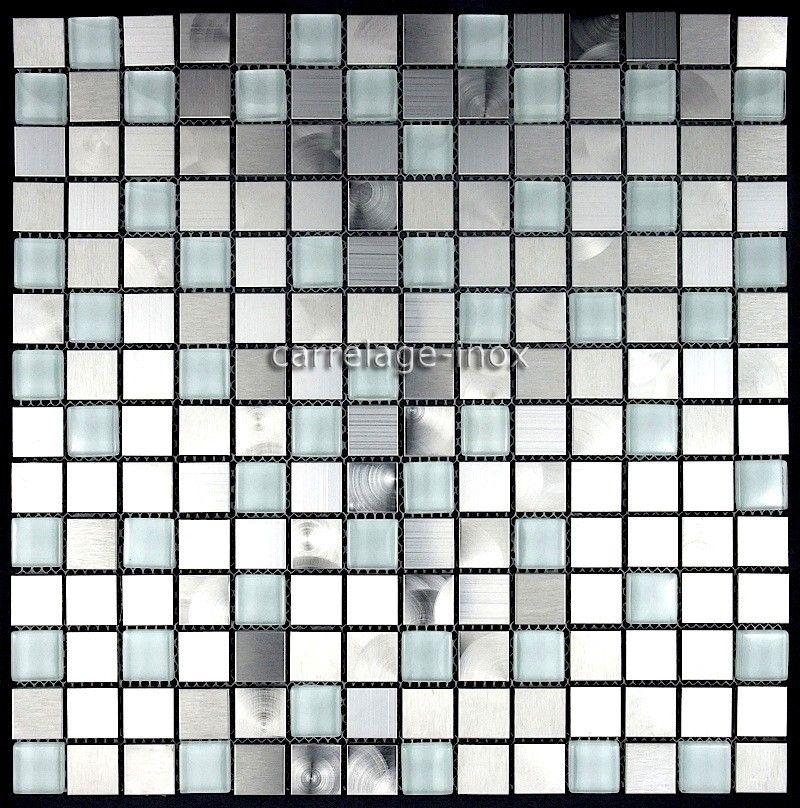 Dalle Inox Cuisine Credence Inox Mosaique Cm-Multi Reg 10,50