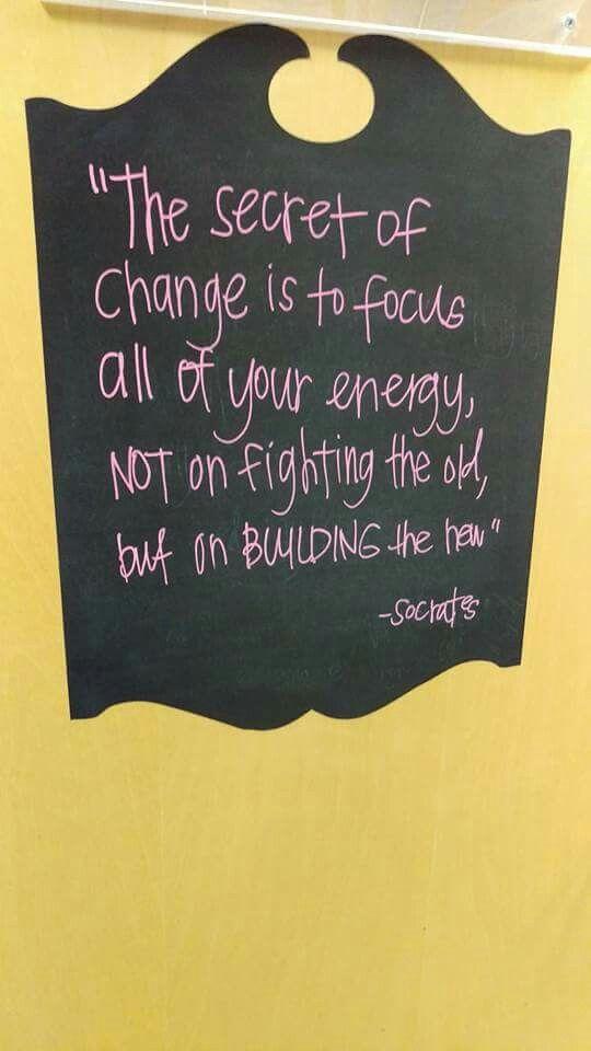 Change | To focus, Change, Statement