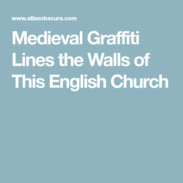 Photo of Medieval Graffiti Lines the Walls of This English Church