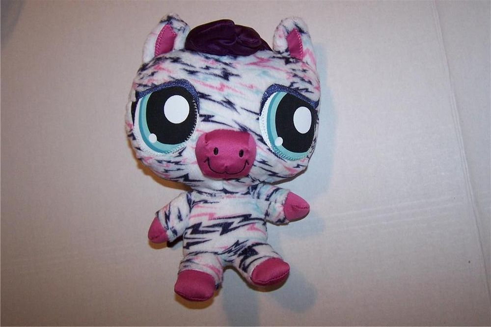 Littlest Pet Shop Hungriest Zebra Stuffed Animal Plush Toy 2008 Lps Hasbro Littlest Pet Shop Pet Shop Animal Plush Toys