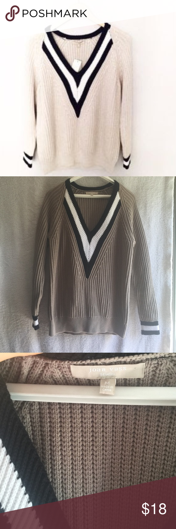 Unreal JOAN VASS STUDIO SWEATER Such great style! Joan vass Sweaters V-Necks