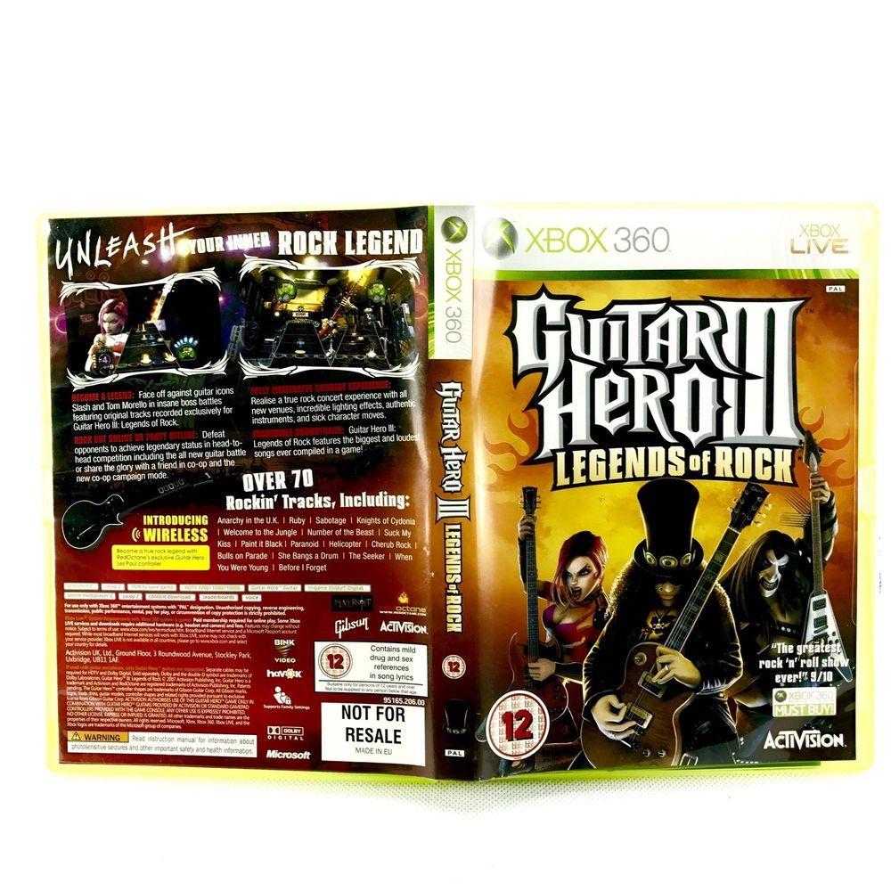 Guitar Hero Iii Legends Of Rock Xbox 360 Video Game Xbox 360 Video Games Video Games Xbox Xbox Live