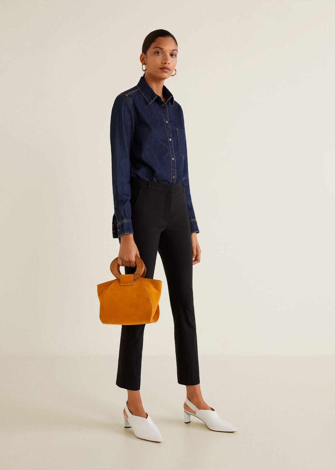 Crop slimfit pants women slim fit trousers women