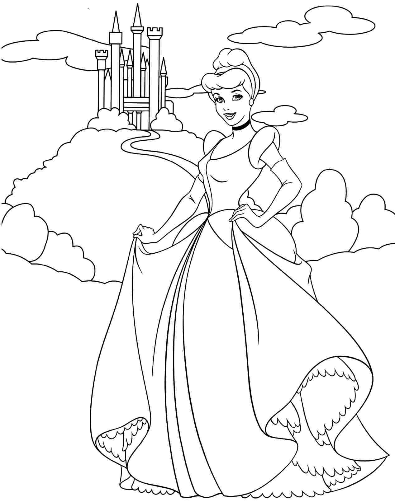 disney princess coloring pages cinderella Google Search