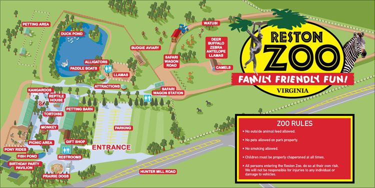 Reston Zoo Map Good to know Pinterest Zoos