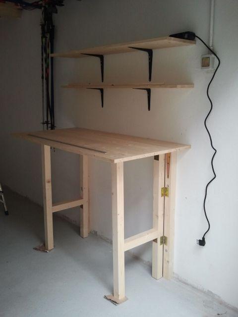 Risultati immagini per progetto tavolo da lavoro gambe pieghevoli progetto tavoli nel 2018 - Tavolo da lavoro pieghevole ...