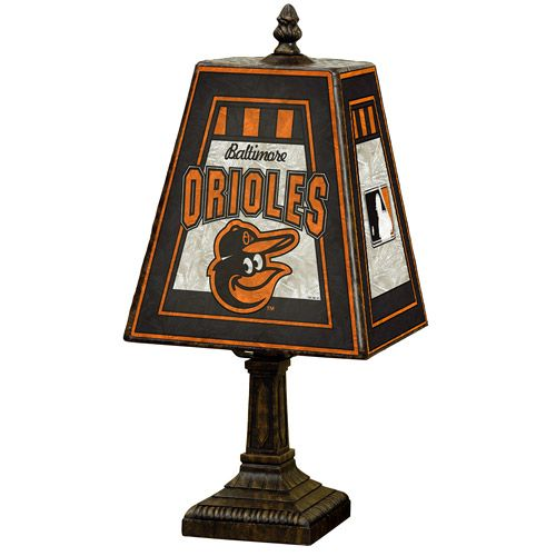 "Baltimore Orioles 14"" Art-Glass Table Lamp"
