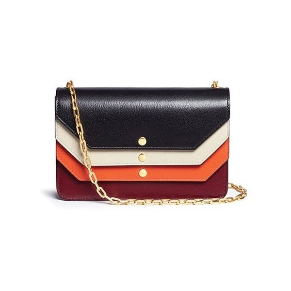 ae9c50ac00b Mulberry 'Multiflap Clutch' leather chain bag (5,200 MYR) ❤ liked on  Polyvore featuring bags, handbags, clutches, mulberry handbags, real leather  purses, ...