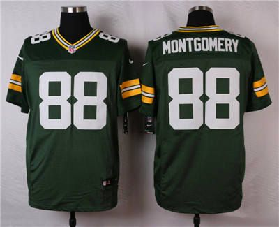 Top Nike Green Bay Packers #88 Ty Montgomery Green Elite Jersey   Green
