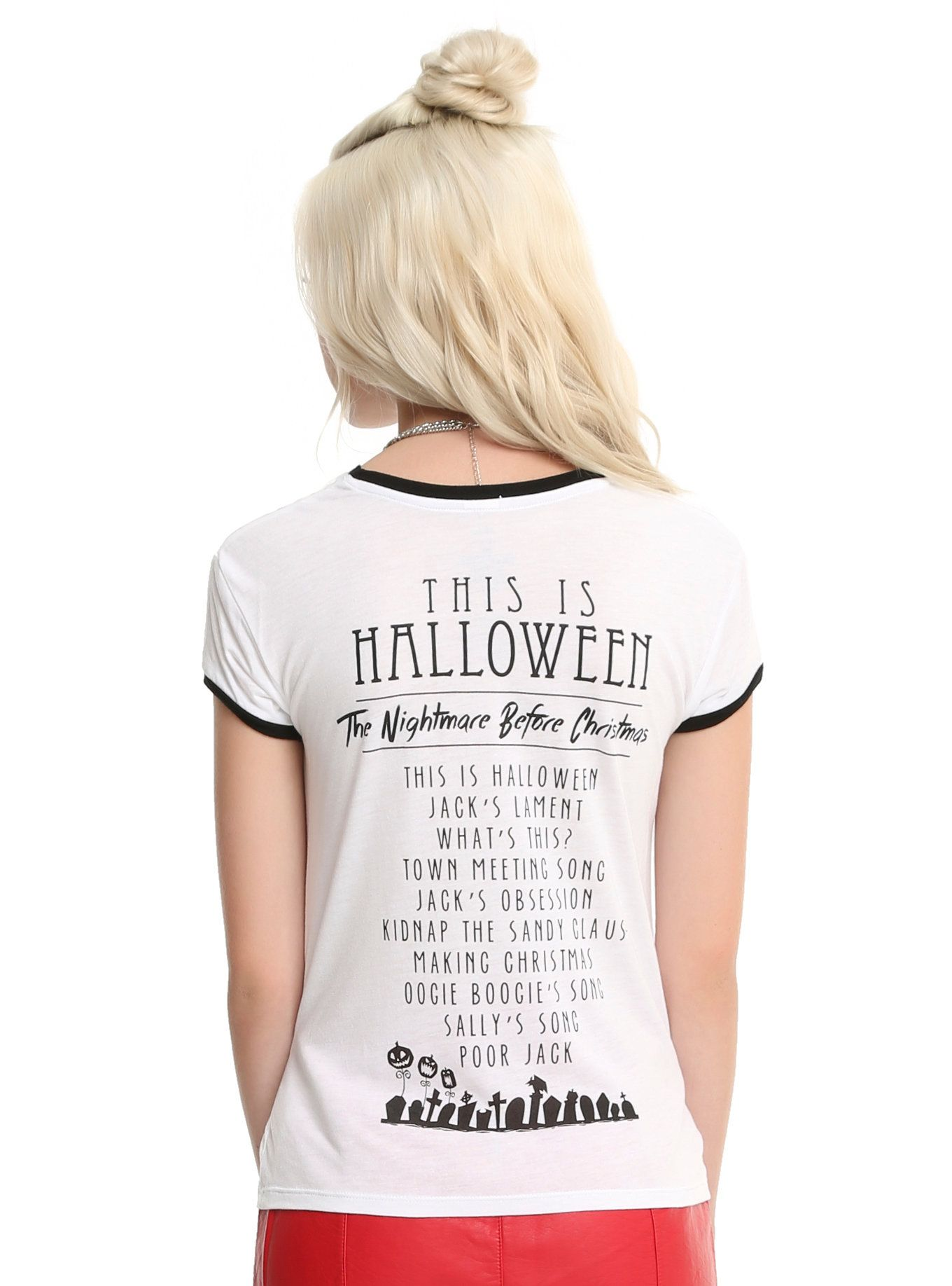 The Nightmare Before Christmas Soundtrack Watercolor Girls Ringer T ...