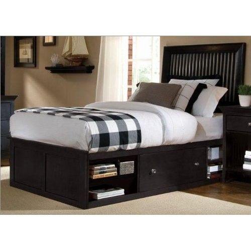 Pedestal Bed With Head Board Double Sided Access No End Access